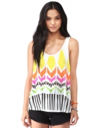 Aztec printed tank top at Forever 21