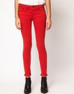 Red skinny jeans like Emilys at Asos