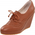 Tan brown oxford wedges at Amazon