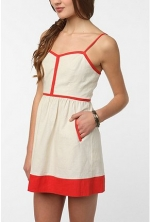 Contrast trim dress like Spencers at Urban Outfitters
