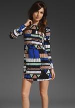 Geo print bodycon dress at Revolve