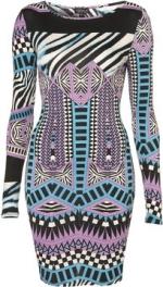 Aria's aztec printed dress at Topshop