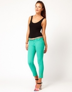 Green jeans like Emlys at Asos
