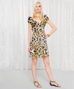 Aria's leopard print dress at Betsey Johnson