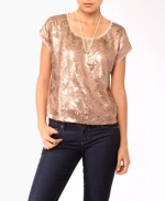 Metallic top like Spencers at Forever 21