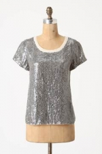 Spencer's sequin top at Anthropologie