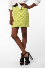 Hanna's yellow lace skirt at Urban Outfitters