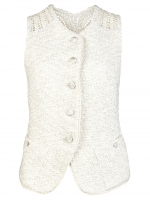 India's crochet vest at Farfetch