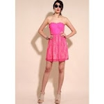 Aria's pink dress at Urban Outfitters