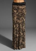 Patterned maxi skirt at Revolve