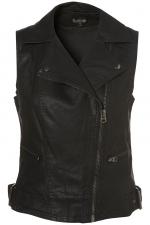 Black biker vest like Arias at Topshop