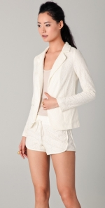 White lace blazer like Ceces at Shopbop