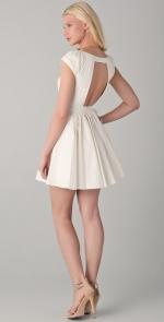 Aria's white back cutout dress at Shopbop