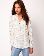 Bird print blouse like Spencers at Asos