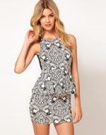 Printed peplum dress like Arias at Asos
