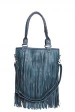 Blue fringe bag like Arias at Boohoo
