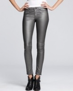 Metallic jeans like Arias at Bloomingdales