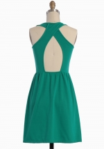 Green dress like Arias at Ruche