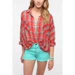 Red plaid shirt like Emilys at Urban Outfitters