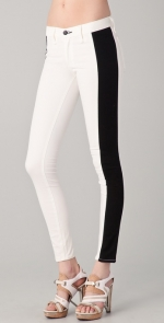 Aria's black and white jeans at Shopbop