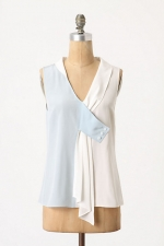 Spencer's white top at Anthropologie