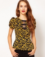 Yellow and black top like Spencers at Asos