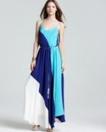 Hanna's blue and turquoise maxi dress at Bloomingdales