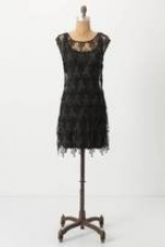 Spencer's black lace dress at Anthropologie