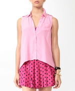 Pink buttonfront blouse like Hannas at Forever 21