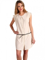 Shirtdress with skinny belt at 6pm