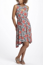 Aria's floral dress at Anthropologie