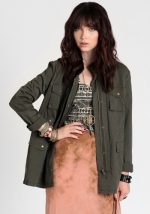 Army style jacket at Threadsence