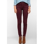 Dark red jeans like Emilys at Urban Outfitters