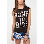 Similar tank top with bone print at Urban Outfitters