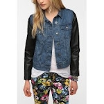 Similar jacket with blue denim at Urban Outfitters