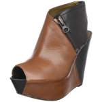 Hanna's brown and black wedges at Amazon