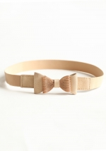 Cream bow belt at Ruche