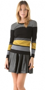 Rachel's yellow stripe sweater at Shopbop