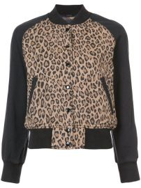 495 R13 Leopard Print Bomber Jacket - Buy Online - Fast Delivery  Price  Photo at Farfetch