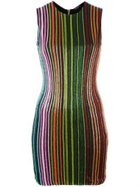 5 255 Balmain Striped Sequin Dress - Buy Online - Fast Delivery  Price  Photo at Farfetch