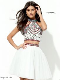 50645 in White at Sherri Hill