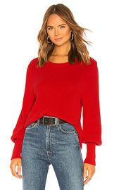 525 america Bishop Sleeve Sweater in Cardinal Red from Revolve com at Revolve