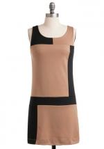 Tan shift dress at Modcloth