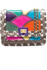 Serena's rainbow purse at Angeljackson