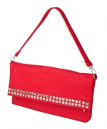 Red studded purse at Forever 21