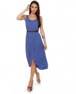 Blue midi dress at Lulus