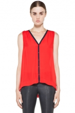 Zoe's red top at Forward by Elyse Walker
