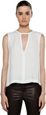 Robin's white top at Forward by Elyse Walker
