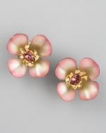 Blair's flower earrings at Neiman Marcus