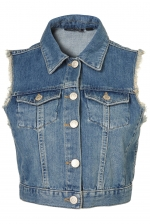 Denim vest like Marleys at Topshop